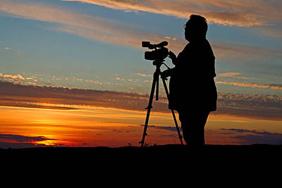 Photograph - Sunset Videographer by David Freuthal