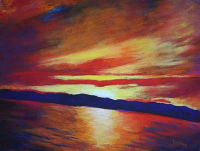 Painting - Sunset Viewed On A Boat by Karin Eisermann
