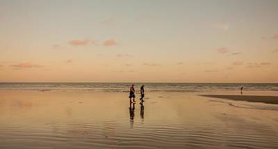 Burnt Pier Photograph - Sunset Walk by Dawn OConnor