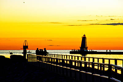 Art Print featuring the photograph Sunset Walk by Randall  Cogle