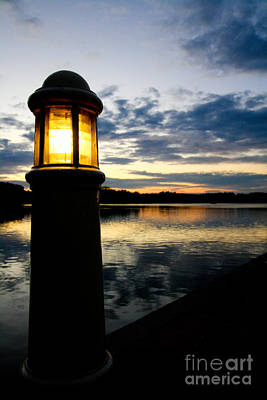 Photograph - Sunset With Light by Jo