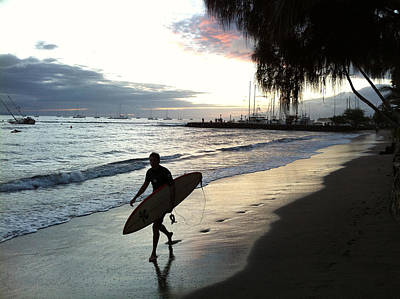 Photograph - Sunset Surf by Kathy Corday