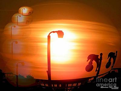 Sunsetzies Art Print by Laurence Oliver