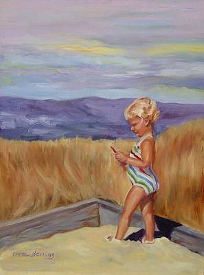 Art Print featuring the painting Sunshine And Shadows by Carol Berning