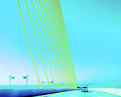 Art Print featuring the photograph Sunshine  Bridge by Lizi Beard-Ward