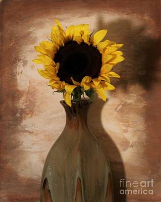 Histogram Photograph - Sunshine On My Sunflower by Marsha Heiken