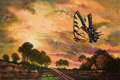 Sunshine Traveler-swallowtail Art Print by Michael Frank
