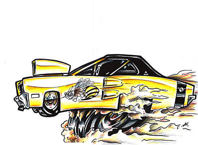 Super Cars Drawing - Super Bee by Big Mike Roate
