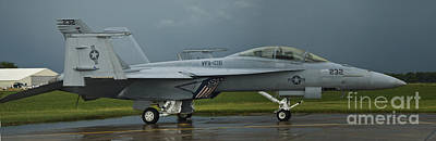 Photograph - Super Hornet After Storm by Tim Mulina