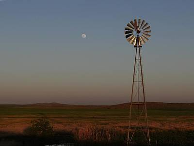 Photograph - Super Moon Over The Prairie by Keith Stokes