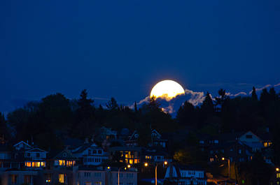 Photograph - Super Moon Rising by Tikvah's Hope
