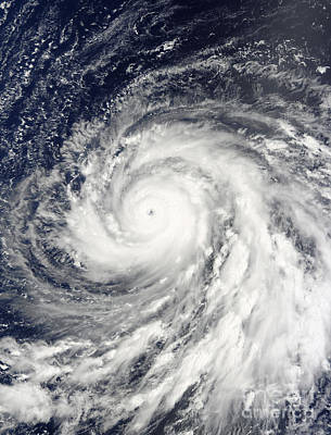 Photograph - Super Typhoon Choi-wan Over The Mariana by Stocktrek Images