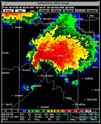 Supercell With Hook Echo, Radar Art Print by Science Source
