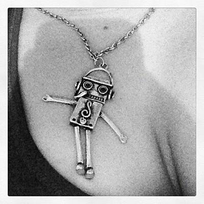 Jewelry Wall Art - Photograph - #supercute #robot #necklace My Parents by Katrina A