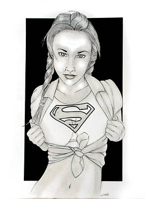 Supergirl Drawing - Supergirl by Nathan  Miller