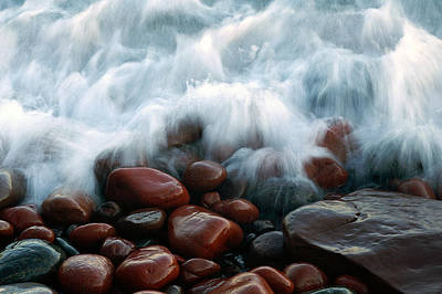 Superior On The Rocks Art Print by Bill Morgenstern