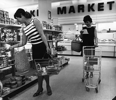 Supermarket Shopping Art Print by V Thompson