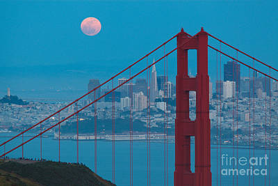 Photograph - Supermoon On San Francisco by Sean Duan