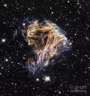 Photograph - Supernova Remnant Lmc N 49, Hst Image by Space Telescope Science Institute / NASA