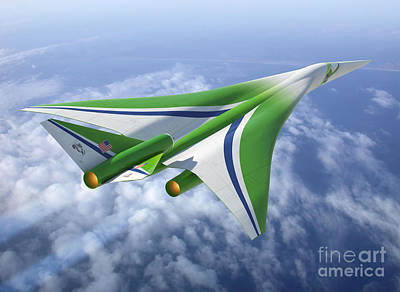 Supersonic Aircraft Design Art Print by NASA/Science Source