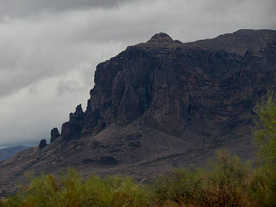 Photograph - Superstition Mountain by Judy Wanamaker