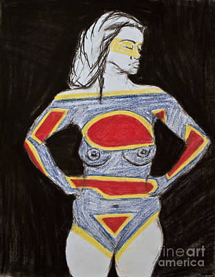 Superwoman Art Print by Cassandra Ronning