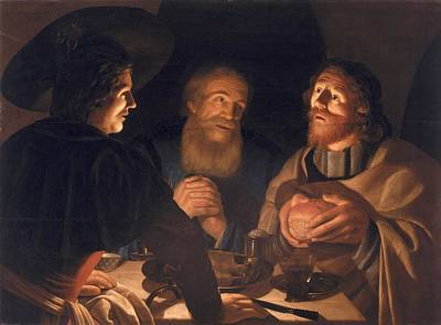 Blessings Painting - Supper At Emmaus by Cryn Hendricksz Volmaryn