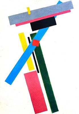Rectangles Painting - Suprematism by Kazimir Severinovich Malevich