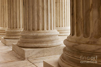 Photograph - Supreme Court Columns by Brian Jannsen