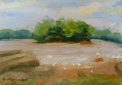Painting - Sur La Riviere by Liliane Fournier