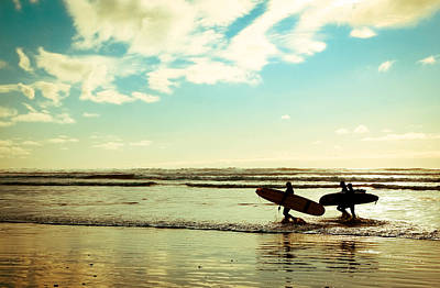 Photograph - Surf At Sunset by Athena Mckinzie