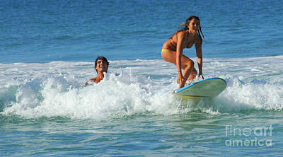 Surfboard Fence Photograph - Surf Buddies by Bob Christopher