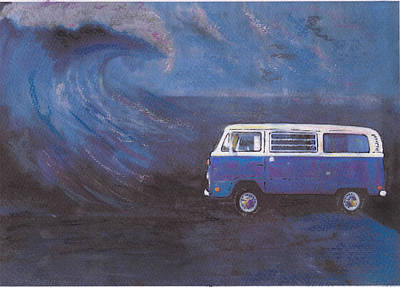 surf Bus Art Print by Sharon Poulton