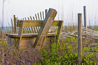 Surf City Chair Print by Betsy Knapp