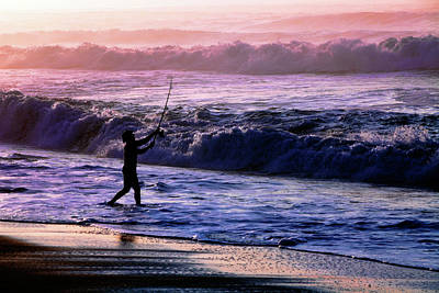 Photograph - Surf Fishin' by Rick Berk