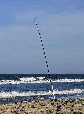 Photograph - Surf Fishing by Trudy Wilkerson