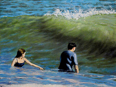 Painting - Surf Play by William Frew