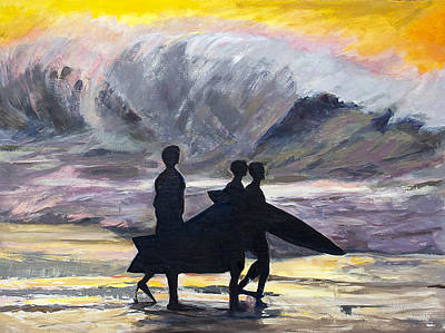 Surf Riders Art Print