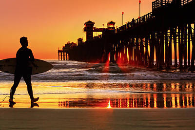 Photograph - Surf Session At Sunset by Donna Pagakis