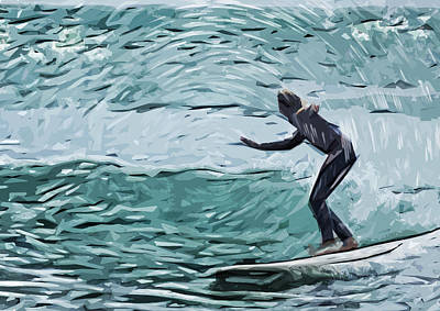 Surf Art Print by Tilly Williams