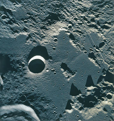 Surface Of The Moon Print by Stockbyte