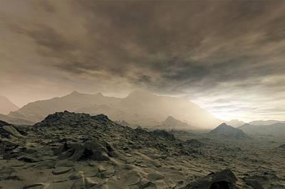 Heat Lightning Photograph - Surface Of Venus, Artwork by Detlev Van Ravenswaay