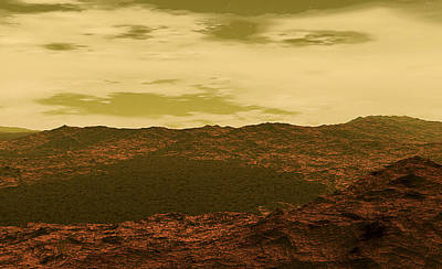 Venus Surface Photograph - Surface Of Venus by Christian Darkin