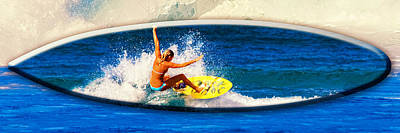 Rocky Digital Art - Surfer Girl At Rocky Point Photo Board by Ron Regalado