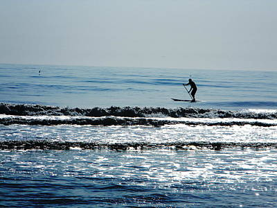 Photograph - Surfer Paddling by Utopia Concepts