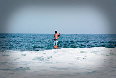 Photograph - Surfer Waiting For Next Wave by Ann Murphy