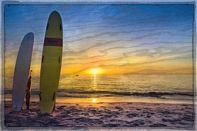 Surfers' Dreams Art Print by Debra and Dave Vanderlaan
