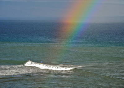 Photograph - Surfing At The End Of A Rainbow  by Kirsten Giving