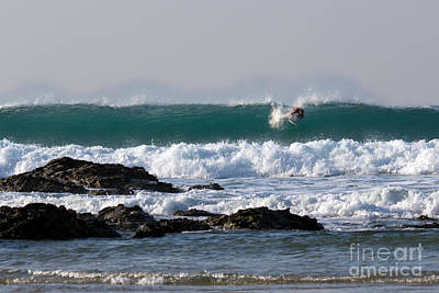 Photograph - Surfing In Cornwall by Brian Roscorla
