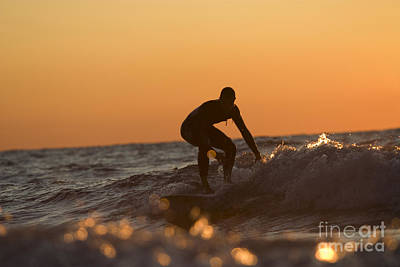 Sun Photograph - Surfing On Lake Michigan by Christopher Purcell